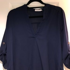 Lush size small navy blouse